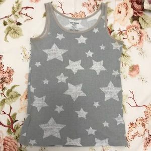 Old navy grey tank with stars